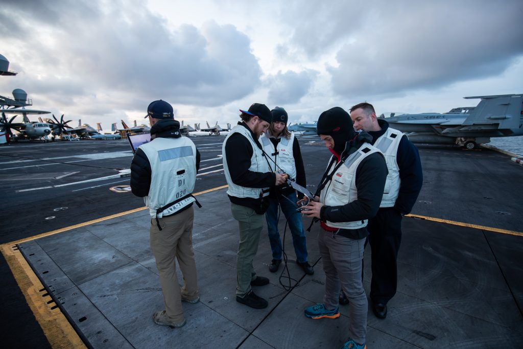 PACIFIC OCEAN - MAY 12, 2019 - Digital asset collection on CVN 71 USS Theodore Roosevelt in the Pacific Ocean. Photo By Donald Page